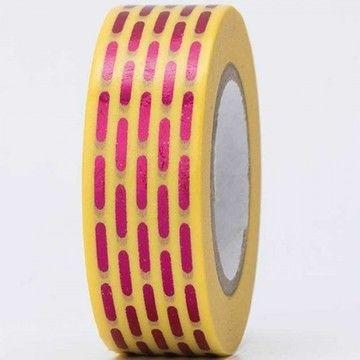 Tape gestrichelt pink Hot Foil 15mm 10m - Bastelmaterial kaufen im Makerist Materialshop