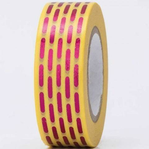 Tape gestrichelt pink Hot Foil 15mm 10m kaufen im Makerist Materialshop