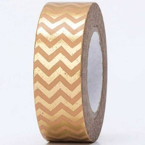 Tape Zickzack gold Hot Foil 15mm 10m kaufen im Makerist Materialshop