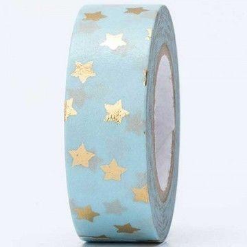 Tape Sterne gold Hot Foil 15mm 10m - Bastelmaterial kaufen im Makerist Materialshop