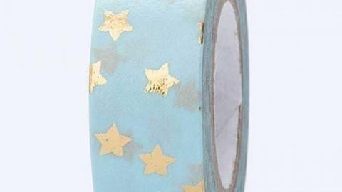 Tape Sterne gold Hot Foil 15mm 10m kaufen im Makerist Materialshop