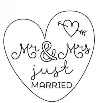"""Stempel """"Mr.& Mrs."""" rund 3,5cm - Bastelmaterial kaufen im Makerist Materialshop"""