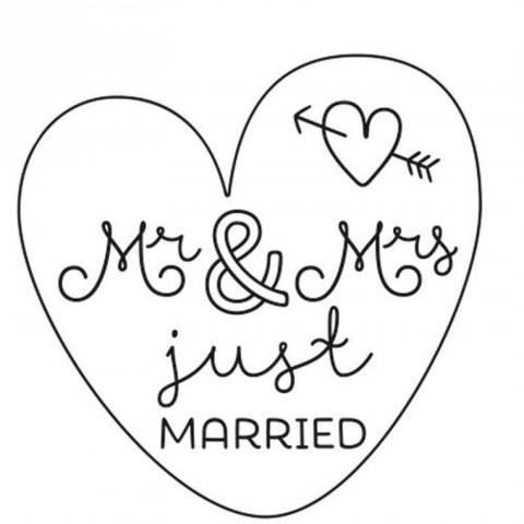 """Stempel """"Mr.& Mrs."""" rund 3,5cm kaufen im Makerist Materialshop"""