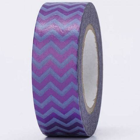 Tape Zickzack lila Hot Foil 15mm 10m kaufen im Makerist Materialshop