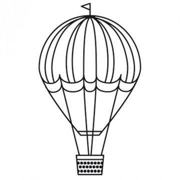 """Stempel """"Heißluftballon"""" rund 3,5cm - Bastelmaterial kaufen im Makerist Materialshop"""