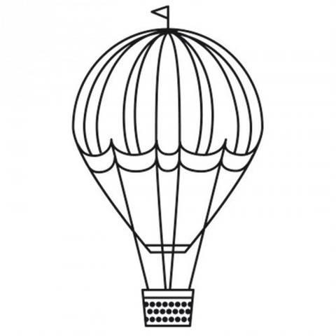 """Stempel """"Heißluftballon"""" rund 3,5cm kaufen im Makerist Materialshop"""