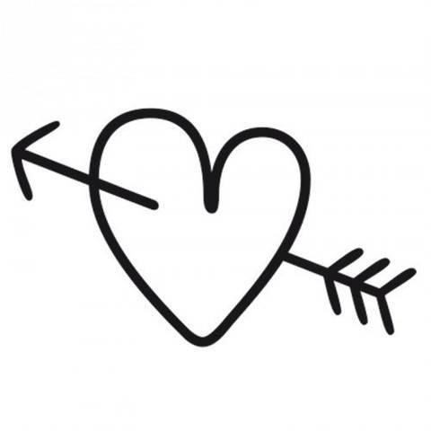 Stempel Herz mit Pfeil rund 3,5cm kaufen im Makerist Materialshop
