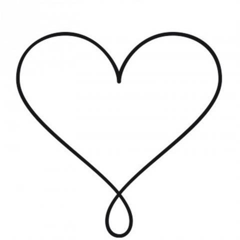 Stempel Herz mit Schlaufe rund 3,5cm kaufen im Makerist Materialshop