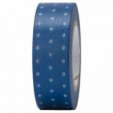 Tape blau/weiß gepunktet 15mm 10m - Bastelmaterial kaufen im Makerist Materialshop