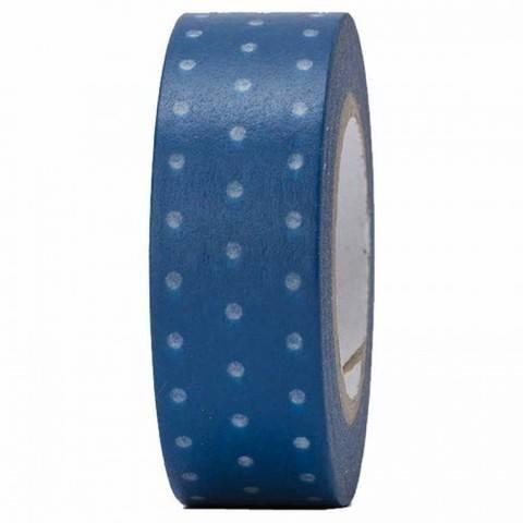 Tape blau/weiß gepunktet 15mm 10m kaufen im Makerist Materialshop