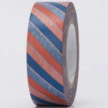 Tape blau/rot gestreift 15mm 10m - Bastelmaterial kaufen im Makerist Materialshop