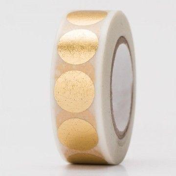 Tape Punkte gold Hot Foil 15mm 10m - Bastelmaterial kaufen im Makerist Materialshop
