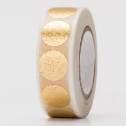 Tape Punkte gold Hot Foil 15mm 10m kaufen im Makerist Materialshop
