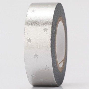 Tape Sterne silber Hot Foil 15mm 10m - Bastelmaterial kaufen im Makerist Materialshop