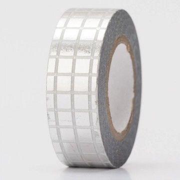 Tape Gitter silber Hot Foil 15mm 10m - Bastelmaterial kaufen im Makerist Materialshop