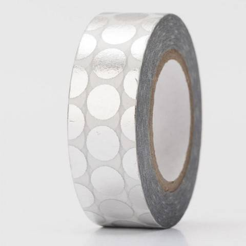 Tape Punkte silber Hot Foil 15mm 10m kaufen im Makerist Materialshop
