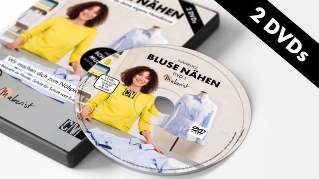 DVD: Bluse Nähen - Nähkurs mit Mia Führer - Bücher und DVDs kaufen im Makerist Materialshop