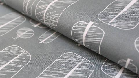 Graublauer Baumwolljersey: Zauberwald Bäume - 150 cm kaufen im Makerist Materialshop