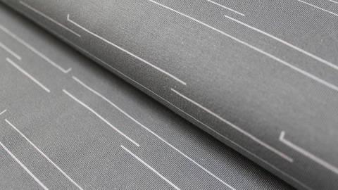 Graublauer Baumwolljersey: Zauberwald Streifen - 150 cm kaufen im Makerist Materialshop