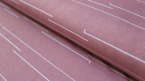 buy Vintage Pink Cotton Jersey: Forest Stripes - 150cm in the Makerist Supplies