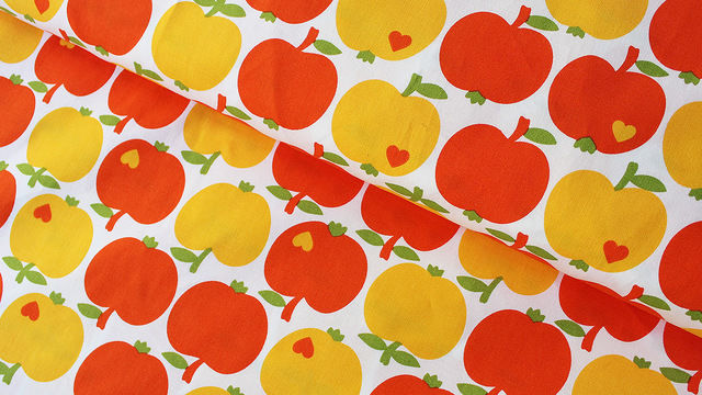 Acheter Coton jaune orange byGraziela: Pommes / Oranges - 140 cm - Tissus dans la mercerie Makerist