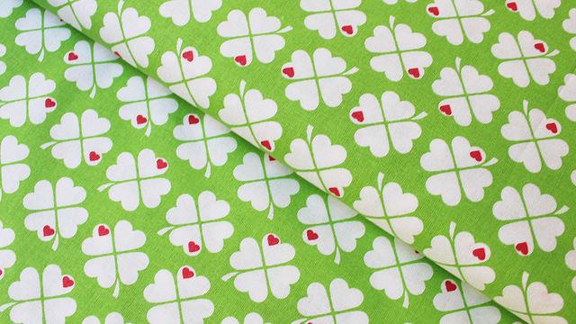 Acheter Coton vert blanc byGraziela: Trèfles - 150 cm - Tissus dans la mercerie Makerist