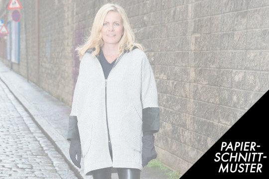 Gedrucktes Schnittmuster für: Mantel Nelly LADY XL - 3XL - Schnittmuster kaufen im Makerist Materialshop