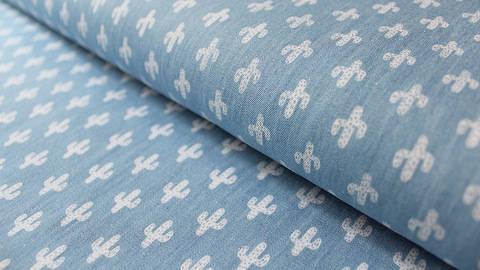 Acheter Jean bleu clair : Cactus - 145 cm dans la mercerie Makerist