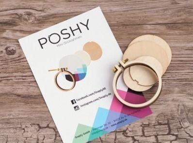 Poshy Mini-Stickrahmen Set - 2 Stk. - Kurzwaren und Zubehör kaufen im Makerist Materialshop