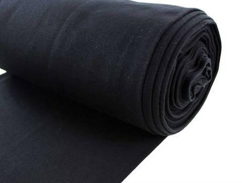 Schwarzer Bündchenstoff, glatt - 35 cm kaufen im Makerist Materialshop