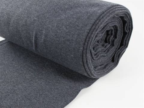 Grauer Bündchenstoff, glatt - 35 cm kaufen im Makerist Materialshop