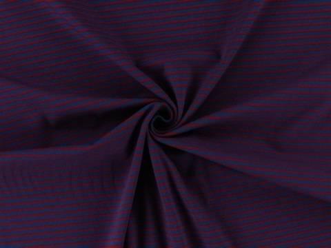Rot-blauer Streifen-Jersey - 150 cm kaufen im Makerist Materialshop