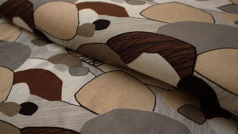 Hellbrauner Stretch-Jersey: Steine - 150 cm kaufen im Makerist Materialshop
