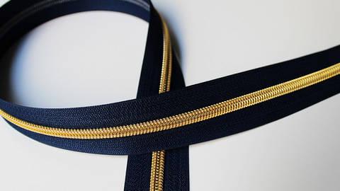 Dunkelblauer Endlosreißverschluss: Gold kaufen im Makerist Materialshop