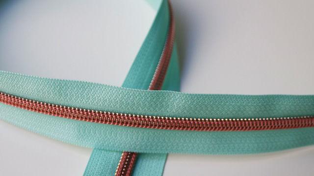 Acheter Fermeture à glissière turquoise : cuivre - Accessoires dans la mercerie Makerist