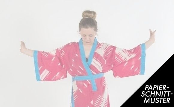 Gedrucktes Schnittmuster für: Kimono JAPAN / Schnittmuster ...