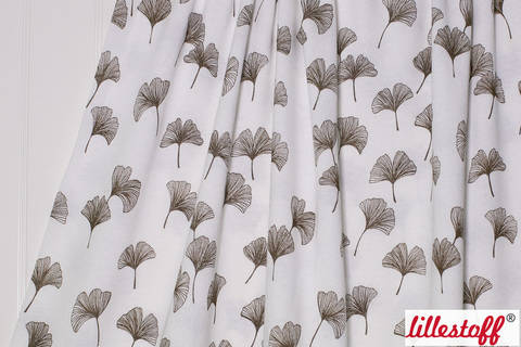 Acheter Jersey coton-laine écru lillestoff : Gingko - 150 cm dans la mercerie Makerist
