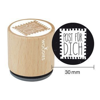 Woodies Motivstempel: Post für dich - 30 mm - Bastelmaterial kaufen im Makerist Materialshop