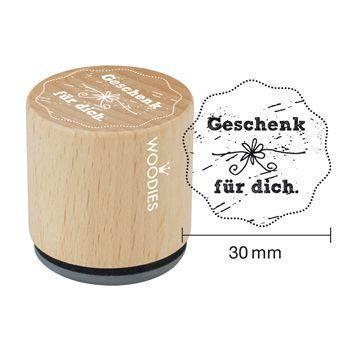 Woodies Motivstempel: Geschenk für dich - 30 mm - Bastelmaterial kaufen im Makerist Materialshop