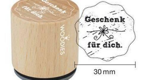 Woodies Motivstempel: Geschenk für dich - 30 mm - ARCHIVIERT - kaufen im Makerist Materialshop