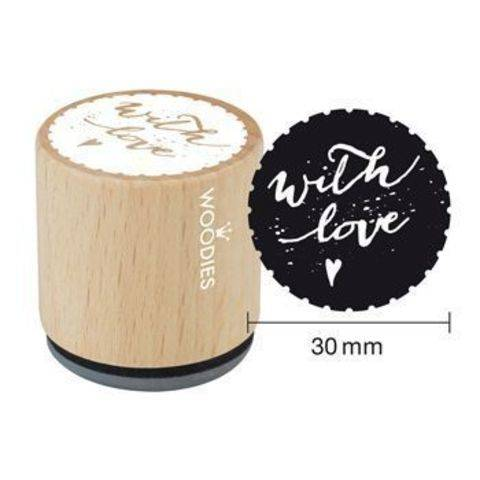 Woodies Motivstempel: with love - 30 mm kaufen im Makerist Materialshop