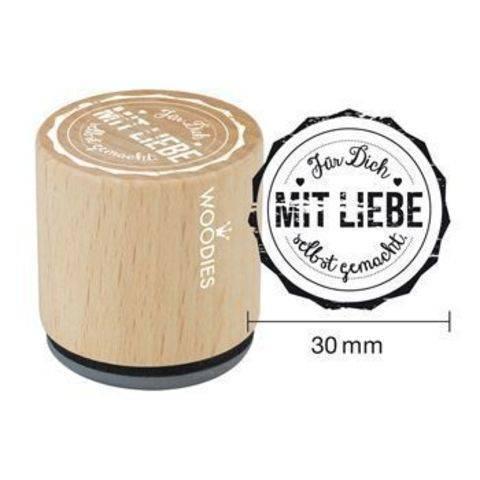 Woodies Motivstempel: Für dich mit Liebe gemacht - 30 mm kaufen im Makerist Materialshop