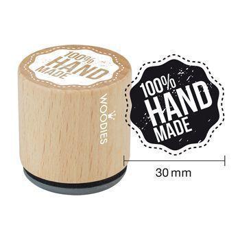 Woodies Motivstempel: 100 % Handmade - 30 mm - Bastelmaterial kaufen im Makerist Materialshop