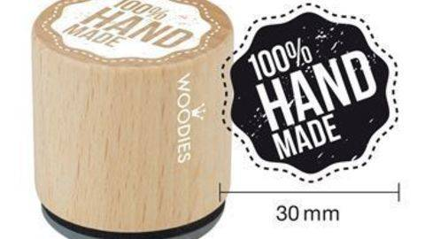 Woodies Motivstempel: 100 % Handmade - 30 mm kaufen im Makerist Materialshop