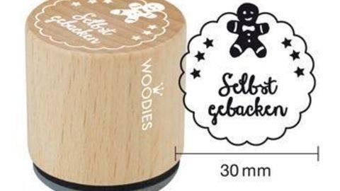 Woodies Motivstempel: Selbstgebacken - 30 mm kaufen im Makerist Materialshop