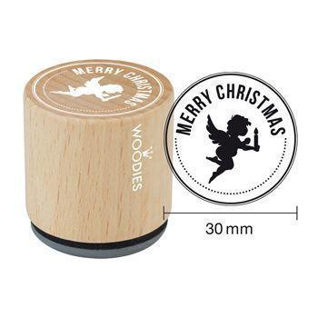 Woodies Motivstempel: Merry Christmas - 30 mm - Bastelmaterial kaufen im Makerist Materialshop