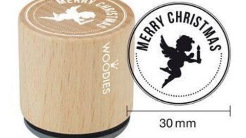 Woodies Motivstempel: Merry Christmas - 30 mm - ARCHIVIERT - kaufen im Makerist Materialshop