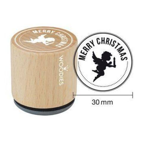 Woodies Motivstempel: Merry Christmas - 30 mm kaufen im Makerist Materialshop