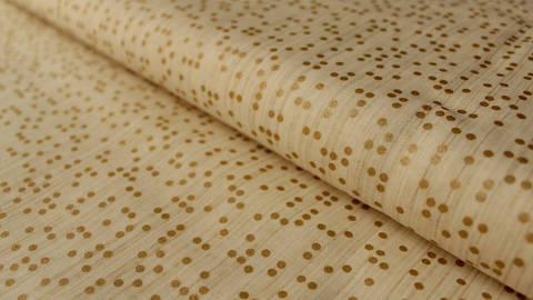Cremefarbener Baumwollstoff: Goldenes Konfetti - 112 cm - ARCHIVIERT - kaufen im Makerist Materialshop