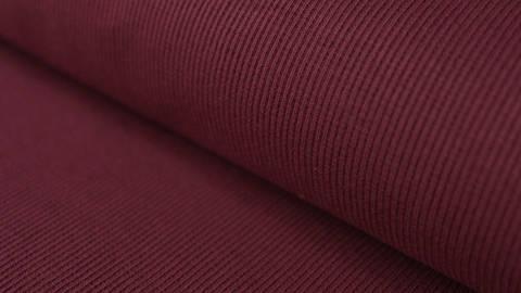 Bordeauxfarbener Bündchenstoff, gerippt - 27 cm kaufen im Makerist Materialshop